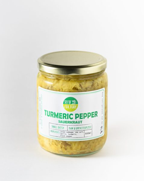 Turmeric Pepper Sauerkraut by Seed to Culture