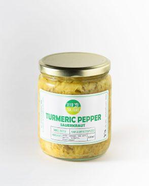 Turmeric Pepper Sauerkraut