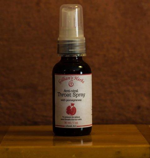 Anti-viral throat spray