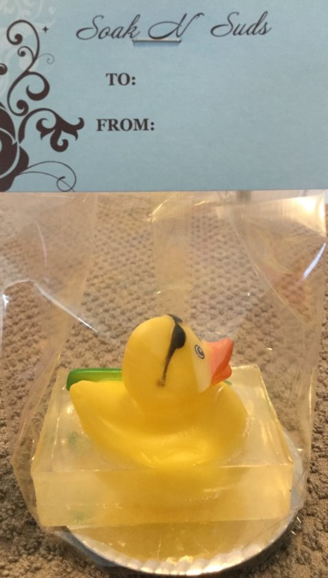 Soak N Suds Duck with Surfboard