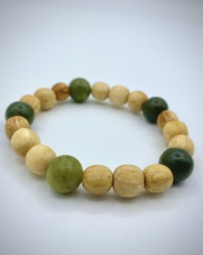 BC Jade and Palo Santo Beads Bracelet