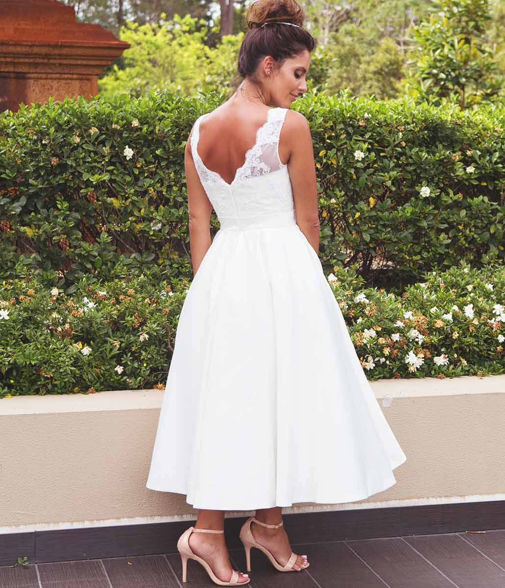 Tea Length Wedding dresses by Lilly Bridal