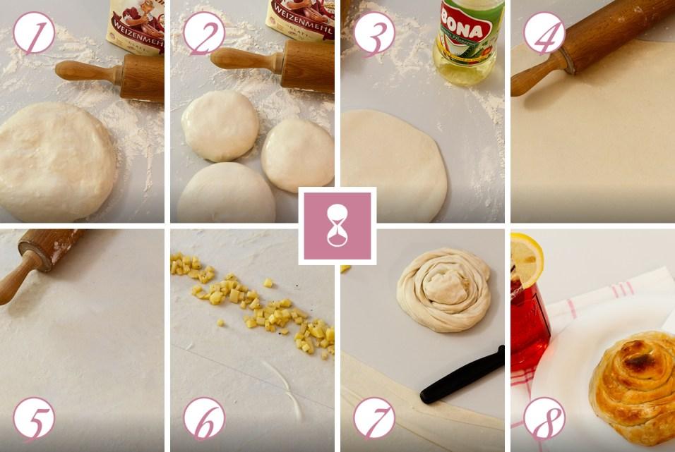 Schritt für Schritt zur Kartoffelstrudel