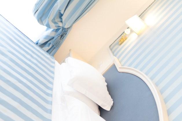Schlafbereich in der Suite
