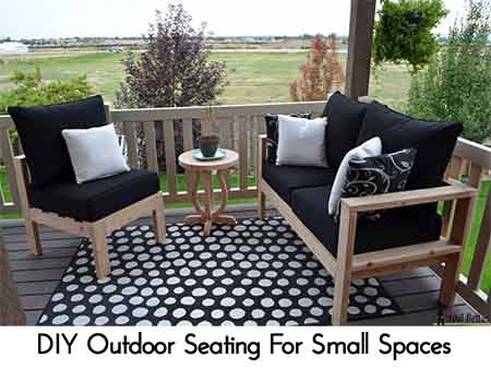 diy outdoor seating for small spaces