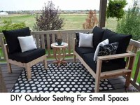 DIY Outdoor Seating For Small Spaces - Lil Moo Creations