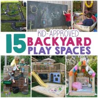 15 Backyard Play Space Ideas For Kids - Lil Moo Creations