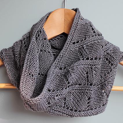 Modele de tricot de col gris de lin de lilofil