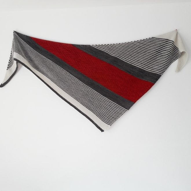 Modele de tricot de chale Asiri de Lilofil