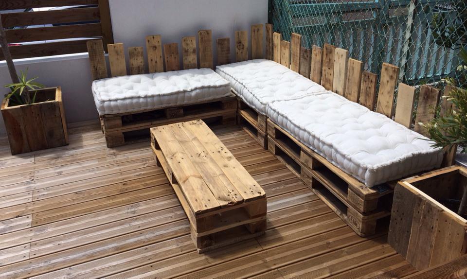 mobilier exterieur en bois sur mesure