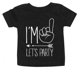 Im One Lets Party Hipster Arrow First Birthday T Shirt