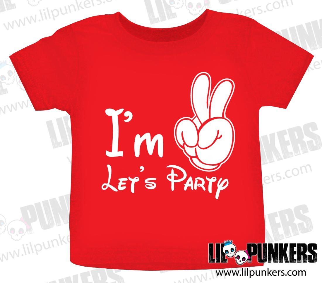 Im Two Lets Party Mouse Hands 2nd Birthday Shirt