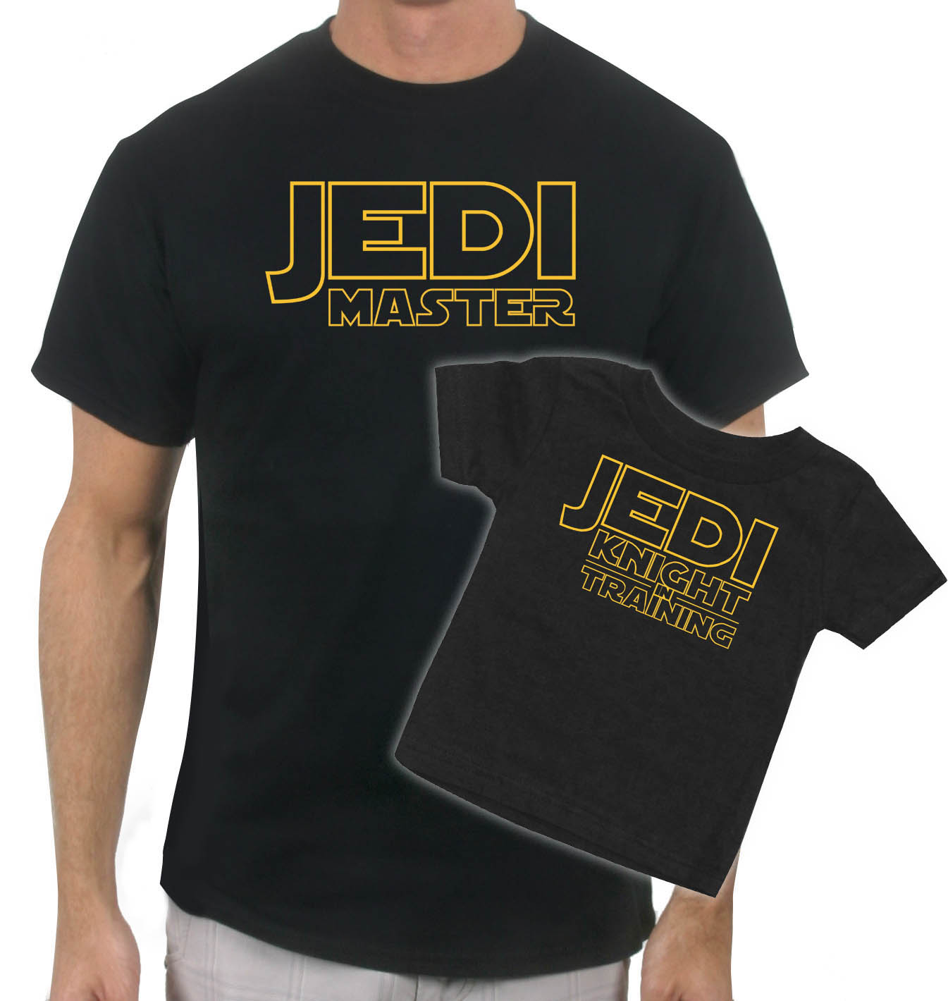 on sale now jedi master  matching father  son tshirt