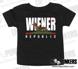 wiener-republic-black-baby-shirt