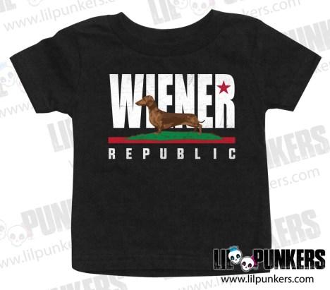 wiener-republic-black-baby-shirt