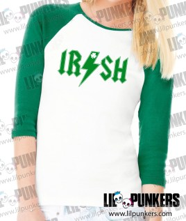 irish-acdc-Raglan-T-Shirt-Female-Green