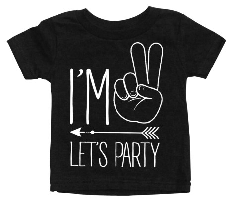 i'm-2-lets-party-hipster-arrow-black-baby-shirt