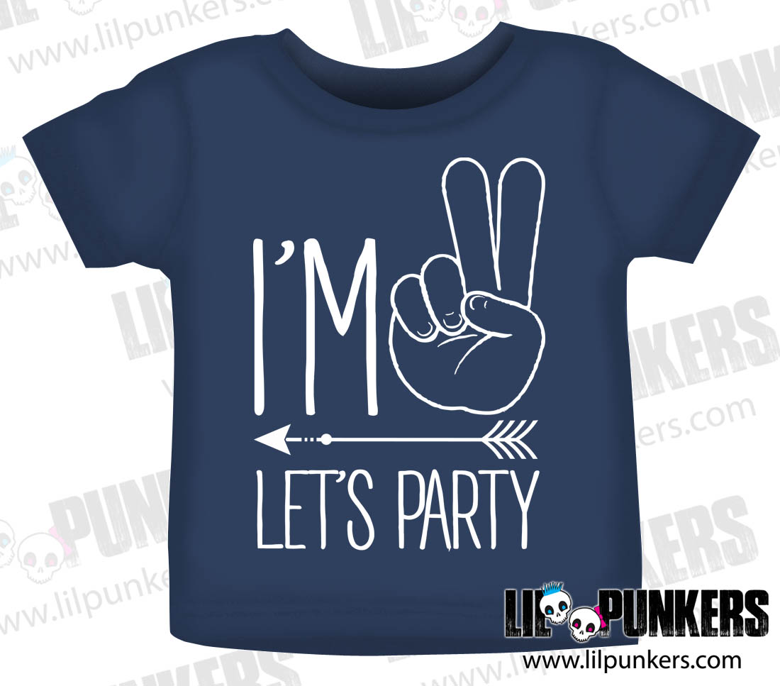 Im Two Lets Party Hipster Arrow 2nd Birthday Shirt