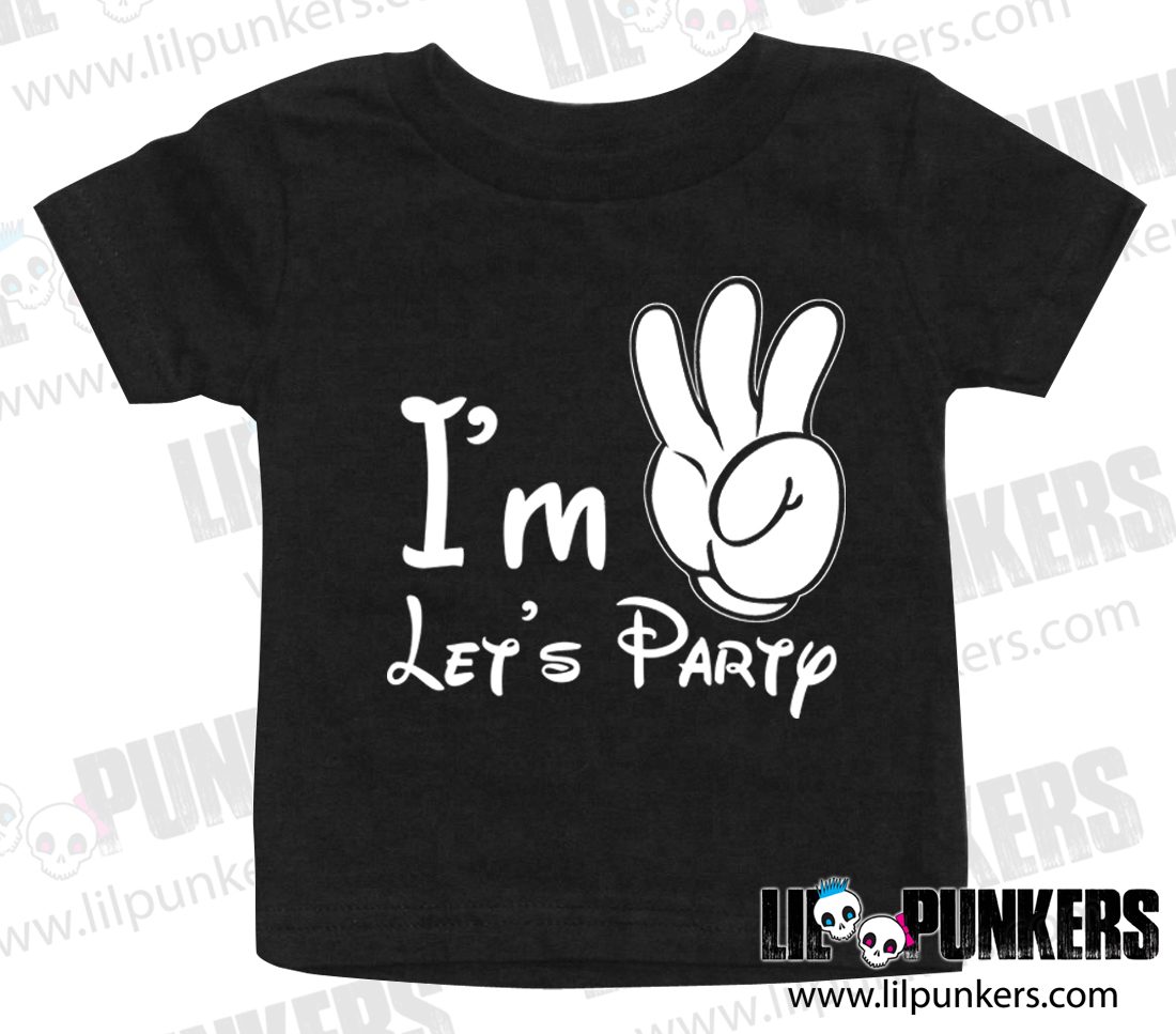 Im 3 Mickey Mouse Birthday Black Toddler Shirt