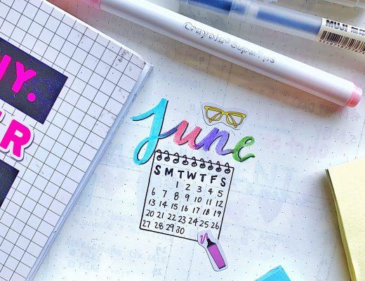 june bullet journal