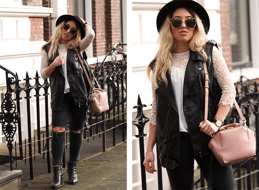 OUTFIT OF THE DAY | Leather Biker Vest