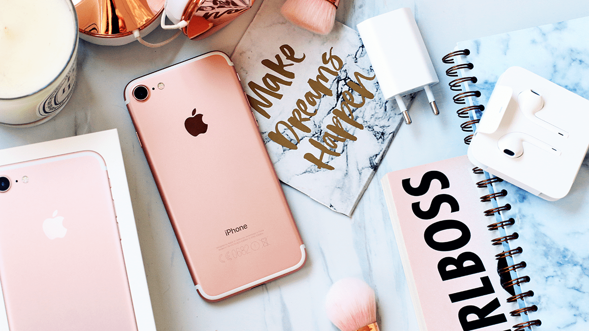 My New iPhone 7 Rose Gold