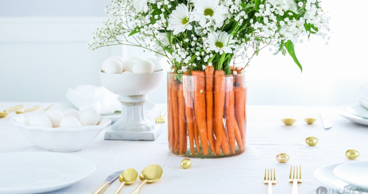 Easter Table Carrot Centerpiece