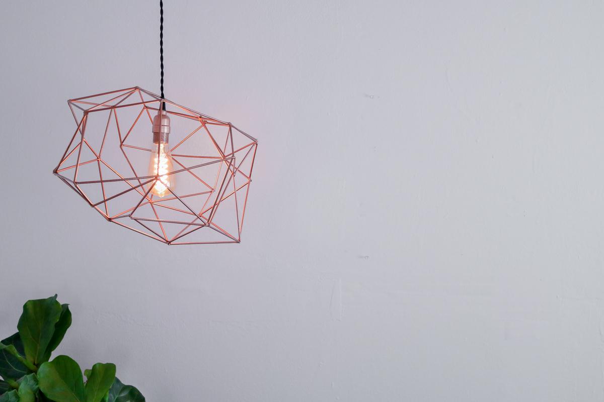 Himmeli Light Fixture DIY (no welding)