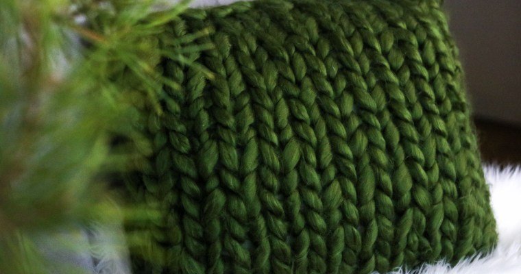 Chunky Knit Throw Pillow (part 2 of chunky knit series)