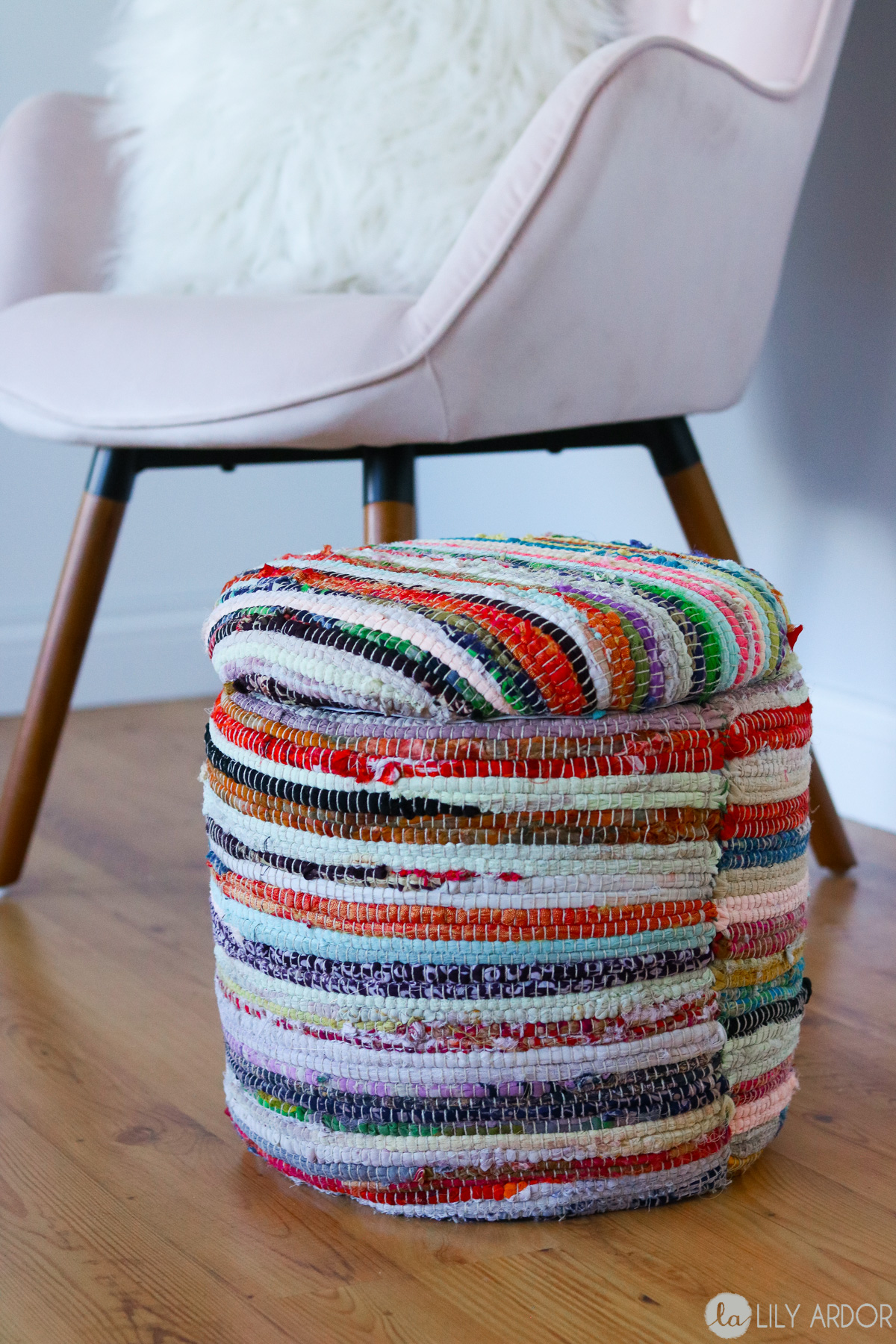 DIY Footstool with storage