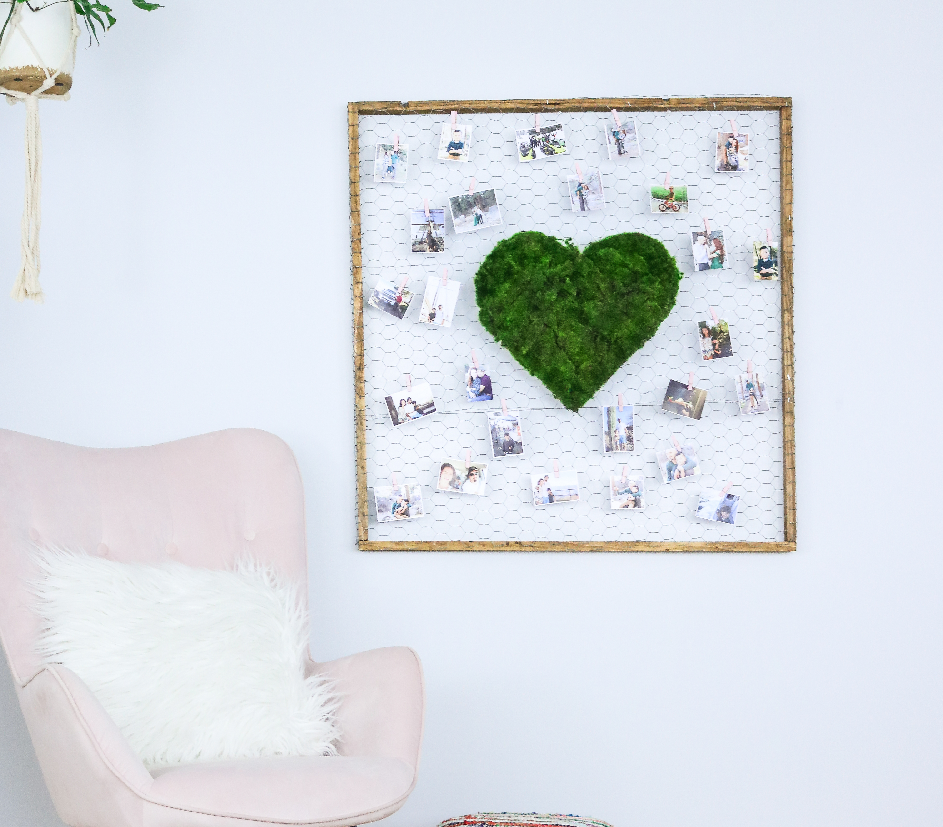 DIY Valentines Heart – Wall Decor with Photo display