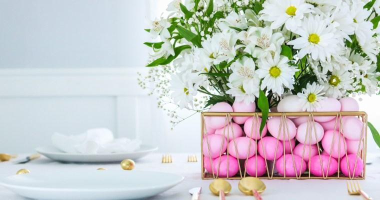 Ombre Easter Basket Centerpiece