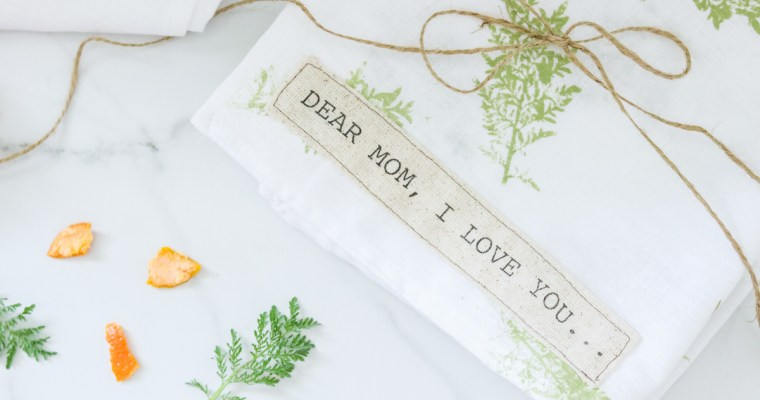Mother's Day Gift – DIY Hand towels- Leaf Printing+ Plus Printing on fabric