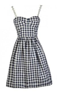 Navy Gingham Dress, Cute Gingham Dress, Gingham Pattern ...
