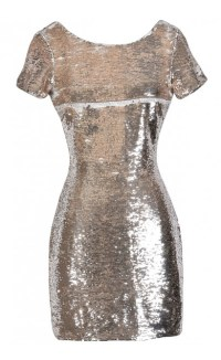 Gold Sequin Party Dress, Cute New Year's Eve Dress, Gold ...