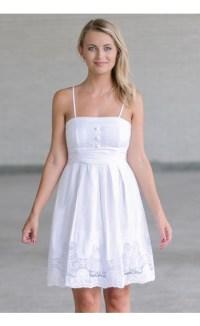 White A-Line Sundress, Cute White Dress, Summer Dress Lily ...