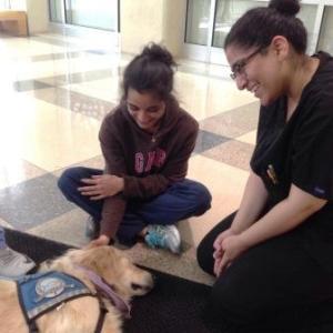 Lily with Medical Students at Rowan University