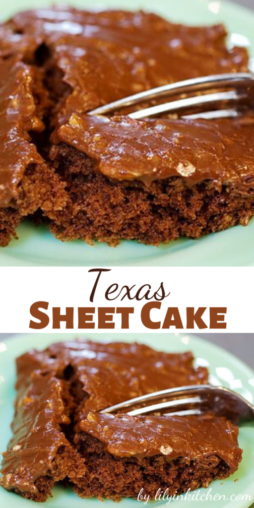 I literally make this Texas Sheet Cake for every party, family gathering, and everywhere else that I go when I need to bring a dessert, and its gobbled up within minutes.