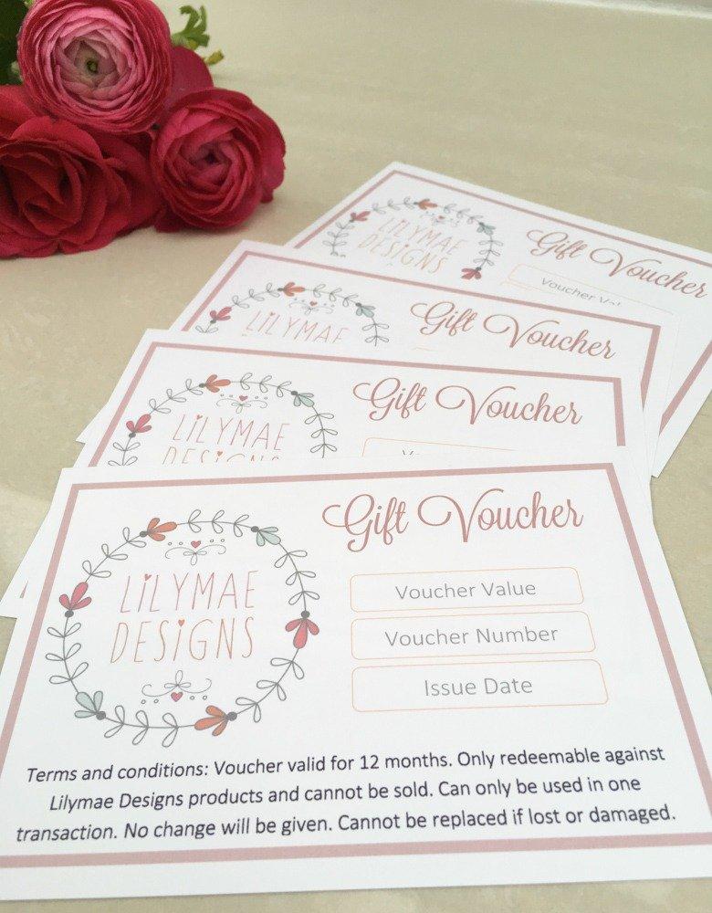 Gift Vouchers Price List