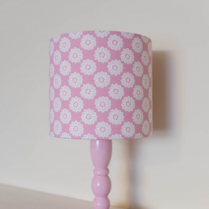 daisy pink lampshade for baby nursery