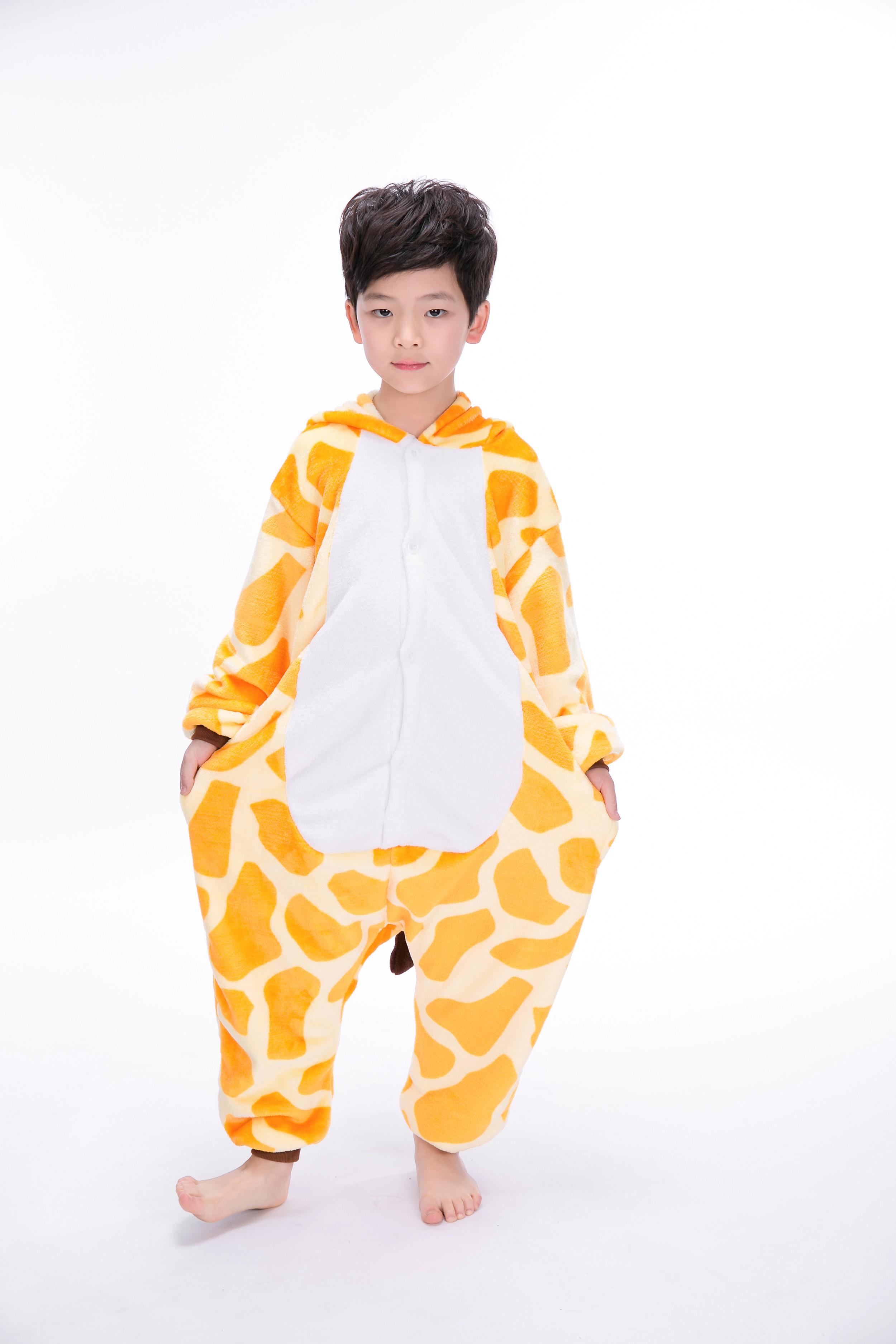 Giraffe Onesie Kigurumi Pajamas Kids For Kids