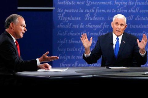 Image Mike Pence - Tim Kaine VP Debate