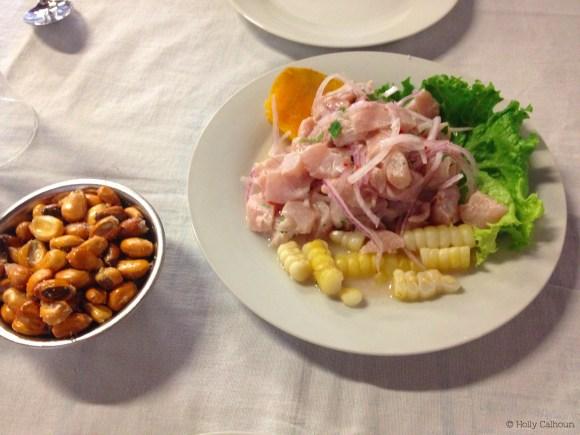 Ceviche servido en el Canta Rana de Barranco. Foto por Holly Calhoun.