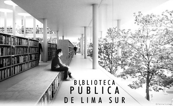Caratula de la Propuesta Arquítectonica de Paloma Iturriaga - una biblioteca pública para Lurín