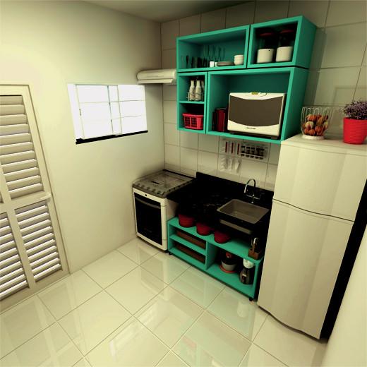 Cozinha sem armrios  limaonagua