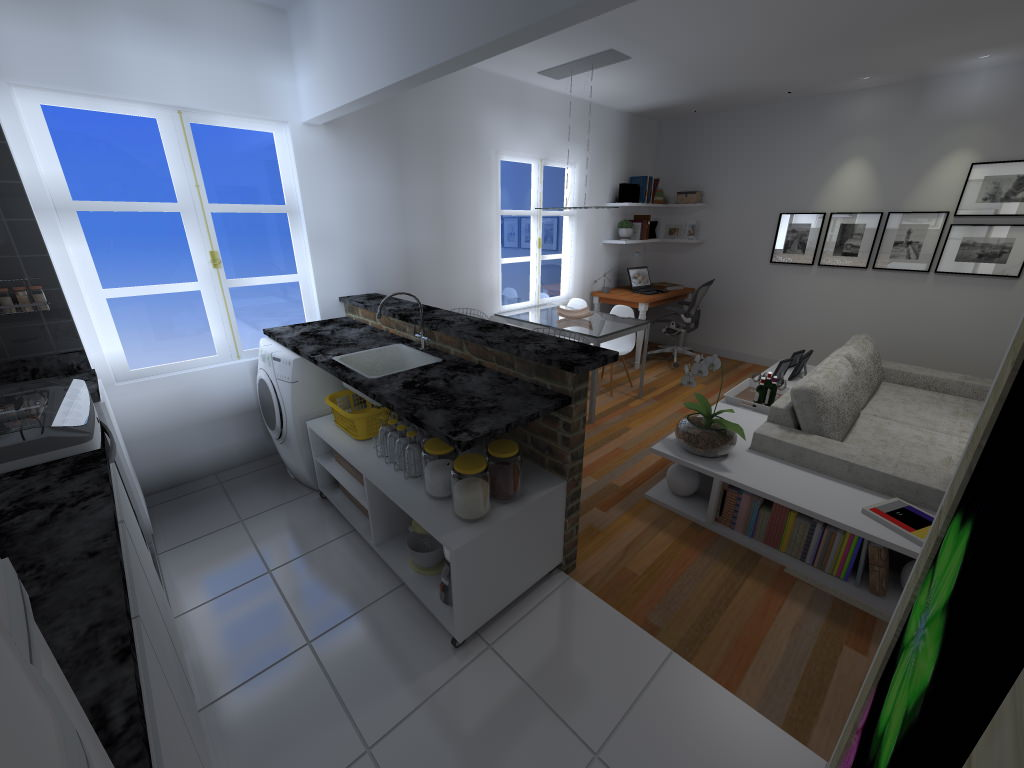 Apartamento De Quase Um Quarto Lavanderia Limaonagua