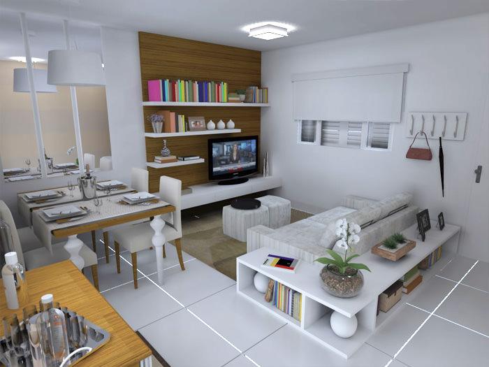Decorar Sala Quadrada Dois Ambientes