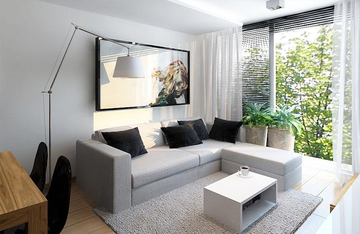 Um pequeno apartamento por Ad Design Studio  limaonagua
