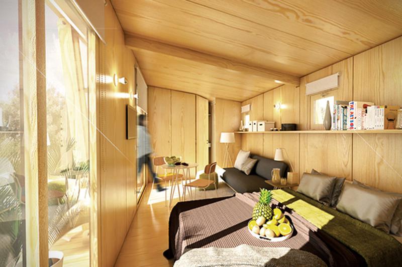 Pequena casa prfabricada pode ser erguida em apenas 8
