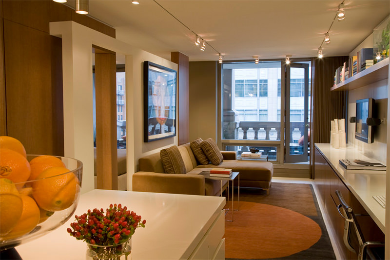 Uso eficiente do espao em um apartamento de 55 metros